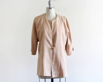 Bullocks Wilshire Woven Jacket / Batwing Jacket / 60's Vintage