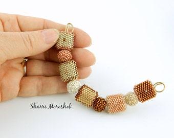 Sale - Reduced 30% -Beaded Beads set of 9 - by Sharri Moroshok