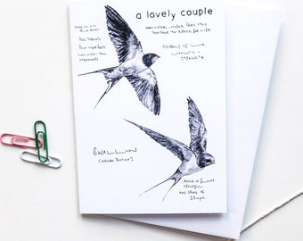 A Lovely Couple engagement wedding or anniversary card