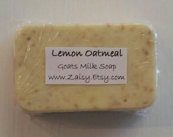 Lemon Oatmeal Goats Milk Soap, Homemade Soap, Soap Gift Set, Gentle All Over Soap, Hand Soap, Body Soap, Gift Ideas, Bath and Body