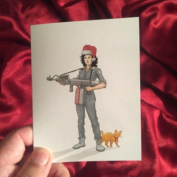 ALIEN Ripley Christmas Card