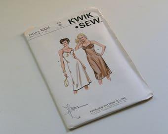 Vintage Kwik Sew  Pattern 1004, Lingerine Pattern, Full Slip, Kerstin Martensson Designed,S - M - L - Xl, Unopen