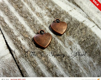 Heart Charms Bulk Charms Antiqued Copper Charms Wholesale Charms 20pcs Heart Pendants Valentines Day Love Charms
