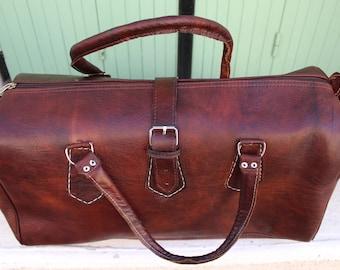 SALE !Weekender- leather backpack, leather duffle bag! weekender bag from leather