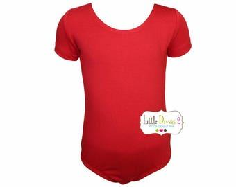 Red Leotard-Ballet Short Sleeve Leotard (Children's)