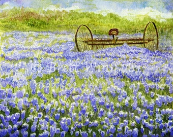 Lavender Field Print, Printable Art, Lavender Art, Home Decor, Watercolor, Wall decor, Instant Download