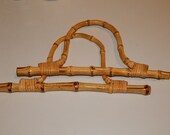 "1 Pair of Braid Bamboo and Rattan Handle Bag Accessories 5.5"" x 10"""