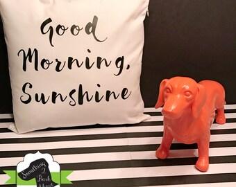 Good Morning, Sunshine Pillow