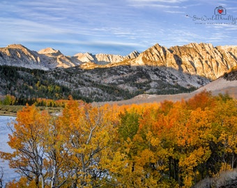 Landscape  Photography Mountains Photography  Fall Photography Autumn lake  home decor  Fine Art Photography Print