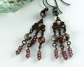 Bohemian Chic Earrings Gypsy Earrings Hippie Jewelry Rustic Earrings