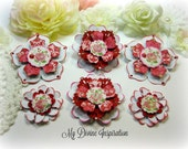 Echo Park Love Story by Lori Whitlock Handmade Paper Flowers and Paper Embellishments for Scrapbooking Cards Mini Albums Tags Paper Crafts