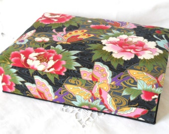 fabric covered box fabric jewelry box Kona Bay fabric trinket