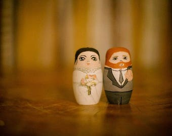 Wedding cake toppers - Custom made