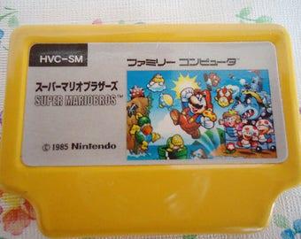 Super Mario Bros Game Tin Pendant. Nintendo.1985.Xtra Rare.Collectors