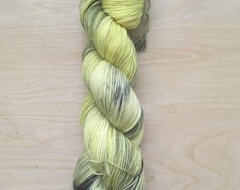 Hufflepuff house superwash merino sock yarn
