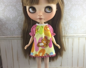 Blythe Smock Dress - Rilakkuma