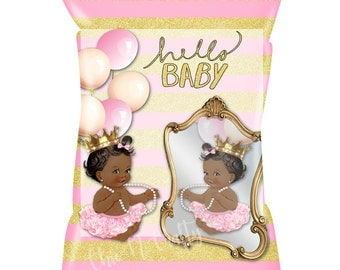 HELLO BABY Personalized Treat Bags/Favor bags/Candy bags/Baby Shower/Birth Announcement/Birthday/Fully Assembled