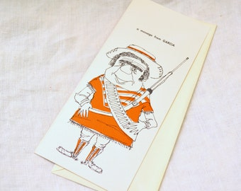 1950s NOS Mexican Get Well Card with Envelope
