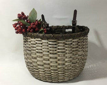 Bicycle Basket / Bike Basket / Handwoven Basket