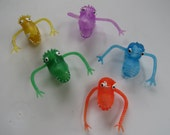 Vintage Monster Jiggly Arms Finger Puppets x5