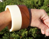 60's Wood and Lucite Layered Bracelet