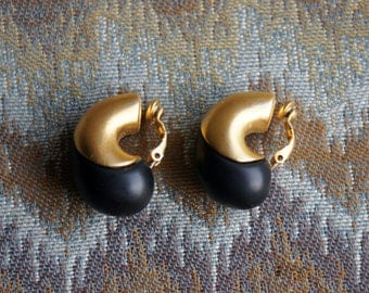 Givenchy Gold Black Bean Earrings