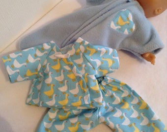 Dolls Clothes 12inch (30 cm) Pyjamas & Sleep Sack to fit baby dolls such as Corolle Calin, ELC Cupcake etc
