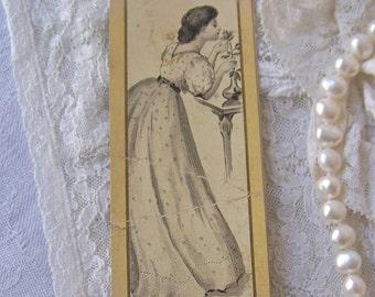 Victorian Trade Card Bookmark Hochschild Department Store Advertising ca 1904