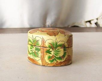 Vintage Trinket Box Wood Box Jewelry Box India Secret Treasures Vintage 1980s