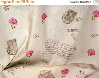 Sale Handmade Vintage Inspired Muslin Fabric Hand Stamped and distressed