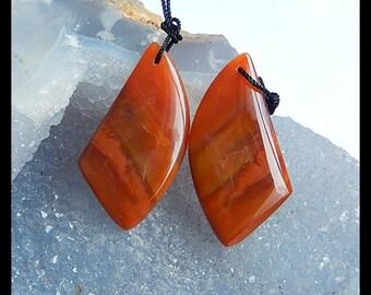 Ocean Jasper Earring Bead,33x17x5mm,10.2g
