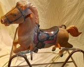 Toy bouncy Horse, toy spring ride-on rocking horse classic toy
