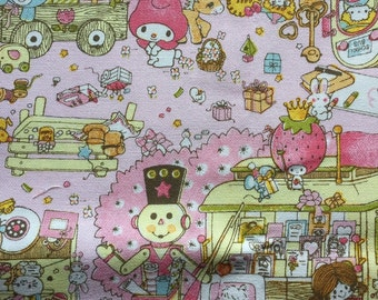 1M Sanrio character all stars fabric