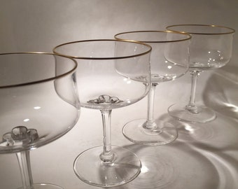 6 Lenox Crystal Champagne Coupes