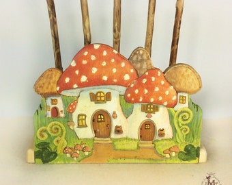 Happy Mushrooms Bedside Bookstand or Napkin Holder