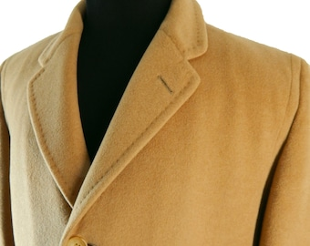 1960s Men's Cashmere Overcoat from Richman Brothers. Plush Cashmere. Excellent Condition. Size 42.  Chest 50 inches.