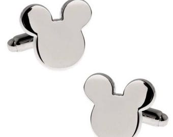 Silver Plated Disney Mickey Mouse Cufflinks