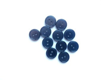 10 Iridescent Grey Vintage Buttons