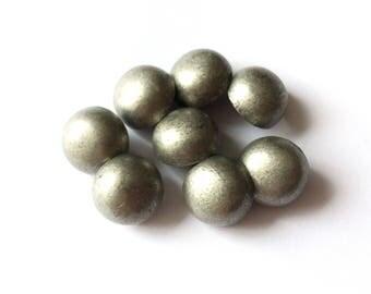 4 Metal Silver Shank Buttons, 17mm