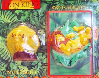 Disney Lion King Night Light & Switchplate-Movie Lions-Vintage New in Package
