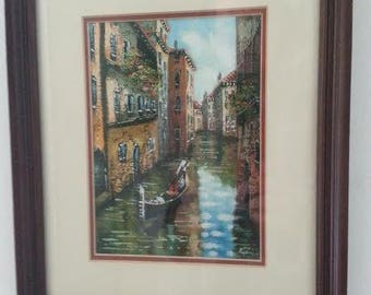 Nice Italy Oil Painting, Vintage
