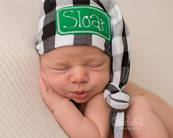 Newborn Name Hat - Newborn Personalized Hat - Baby Boy Hat - Newborn Hat - Infant Hat Hospital Hat