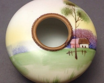 Hand Painted Nippon Hair Receiver FREE SHIPPING