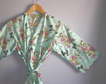 READY to SHIP 2XL Kimono Robe. Dressing Gown. Plus Size Kimono Robe. Plus Size Cover Up. Knee Length