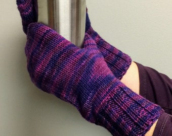 Mittens Handmade 100% Super-washed Hand-dyed Merino Wool - Women's, size M-L, very warm and cozy