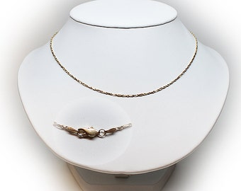 18 Inch 14K Solid Gold Chain Necklace with Lobster Clasp