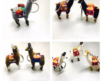 Alpaca keychain, souvenir, unisex gifts, animal lover, choose a color, item no M012
