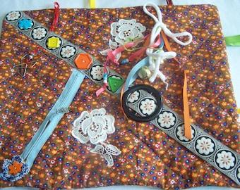 Fidget Quilt - Fidget Pad - Alzheimers Quilt - Dementia Pad - Stroke - Sensory Pad - Rehab - Senior Gift - Austism - Anxiety - Brain Trauma