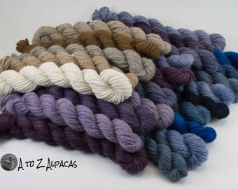 Bulky Weight - Mini Skeins - 100% Alpaca Yarn - Made in Canada - Pick a mini or two :)