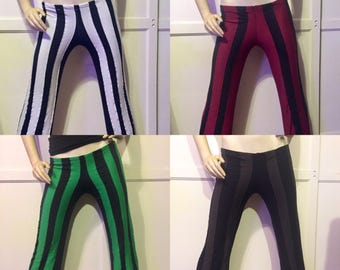 Steampunk Pants - Gothic Pants - Beetlejuice Striped Pants - Made to Order